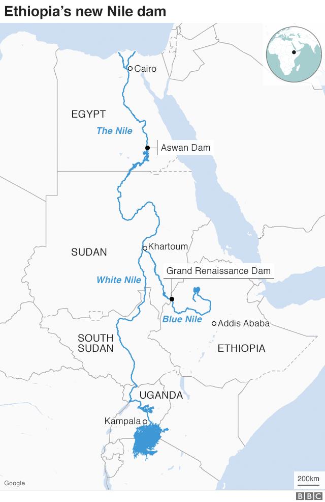 Ethiopia dam map