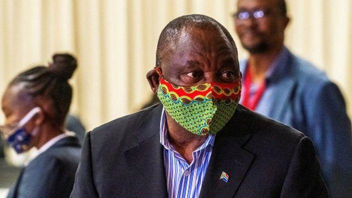 President Cyril Ramaphosa said South Africa was facing a storm