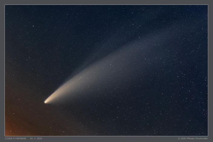 Comet Neowise streaks above Brno, Czech Republic before daybreak on July 10, 2020. / Credit: Miloslav Druckmuller (Brno University of Technology)