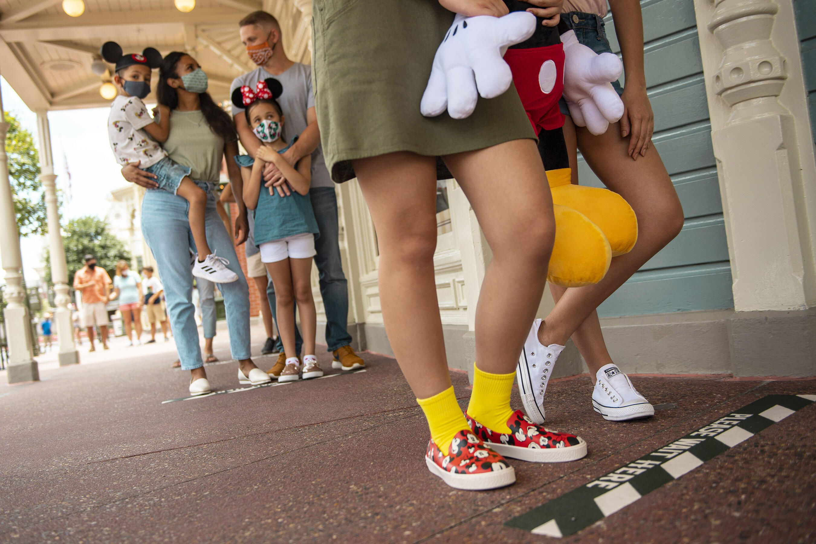 Disney World reopening ground markings social distancing 2