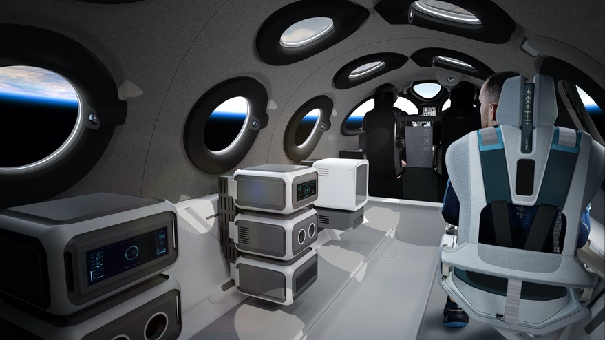 SpaceShipTwo cabin payloads