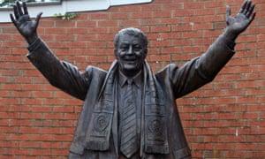 Jack Walker's statue outside Ewood Park