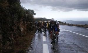 Rain falls on Stage 3 of the Tour de France.
