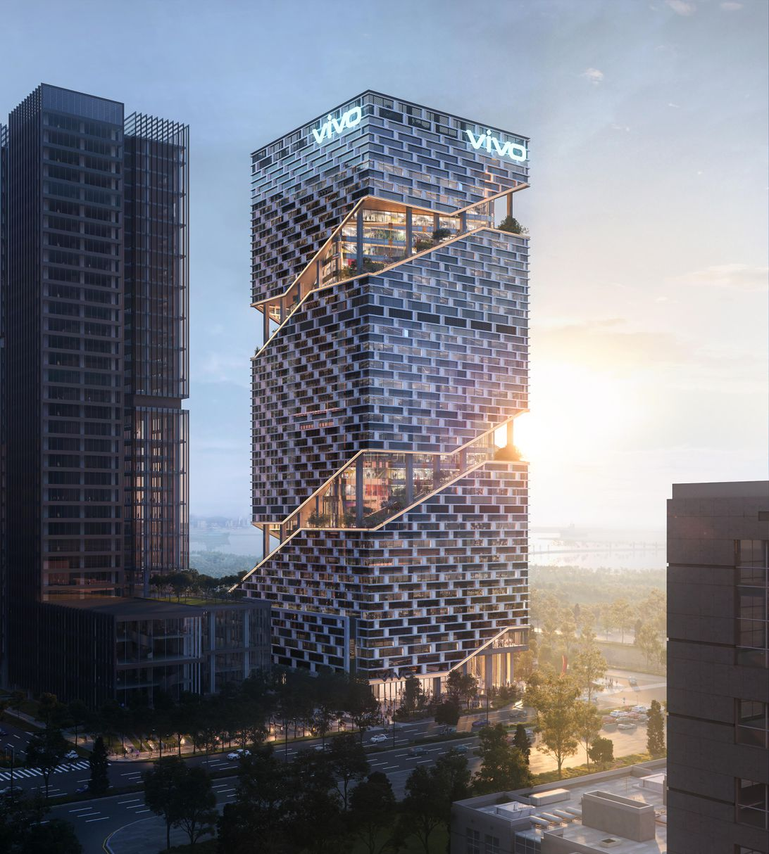Concept art for Vivo's planned headquarters