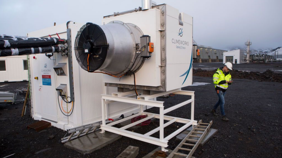 A Direct Air Capture (DAC) machine installed in Iceland