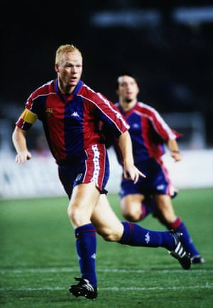 Ronald Koeman in action for Barcelona during the 1993-1994 season