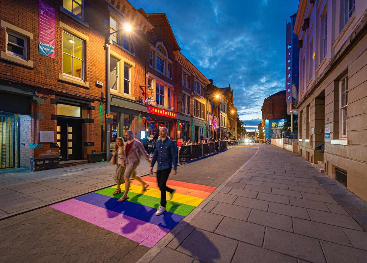 Rainbow Road in Hockley