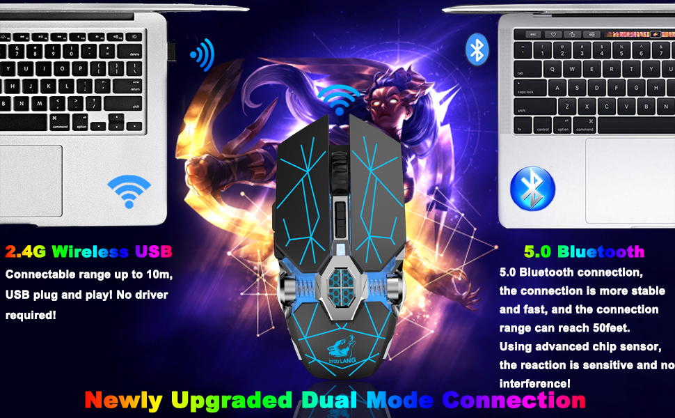 Rechargeable Gaming Mouse with Dual Mode