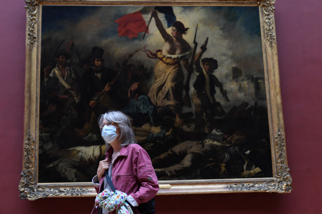 A face mask mandate began in the Paris region on Friday.