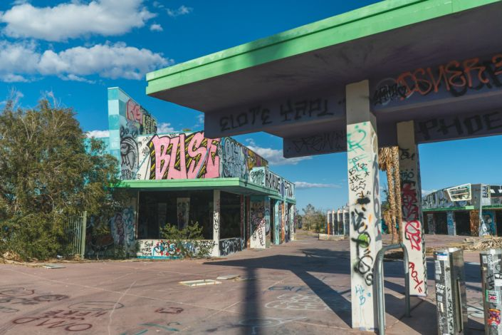 abandoned water park