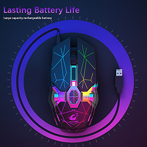 Rechargeable gaming mouse wireless