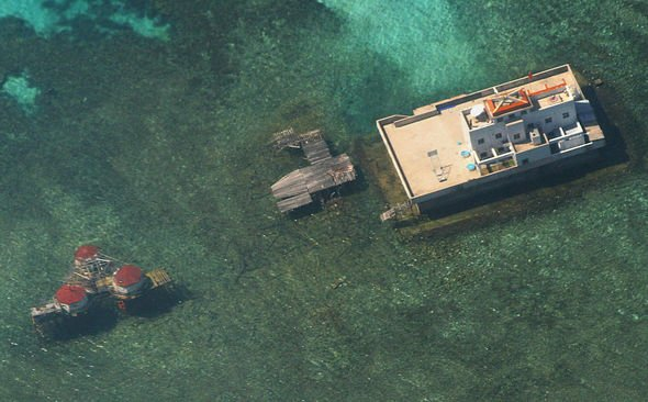 China has built military bunkers on some atolls