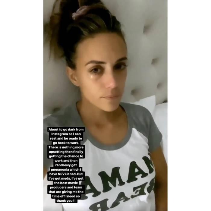 Jana Kramer Breaks Down, Reveals Her Pneumonia Has Paused Movie Filming