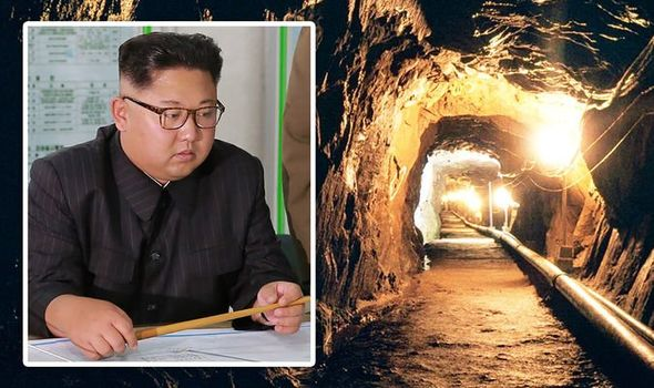 North Korea has a series of tunnels below the state
