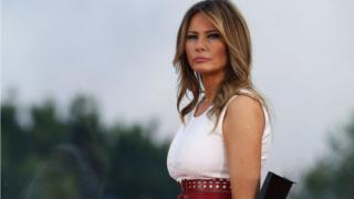 Melania Trump attends a 4 July event