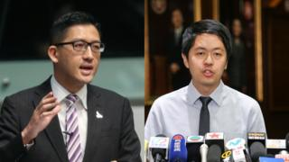 Lam Cheuk-ting and Ted Hui Chi-fung (file photo)