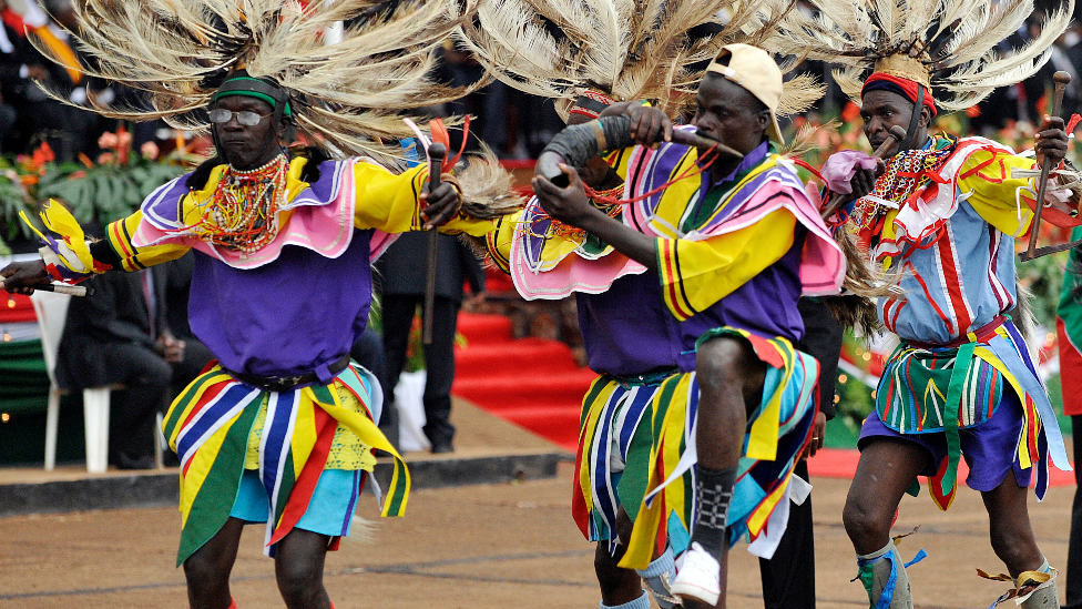 Dancers at a ceremony to ratify Kenya's new constitution in Nairobi - 27 August 2010