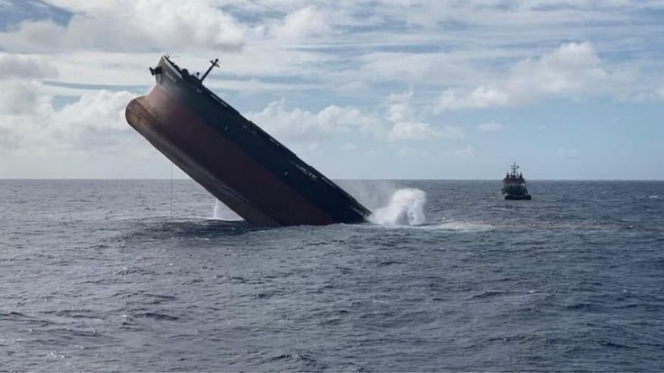The stern of the ship was deliberately sunk