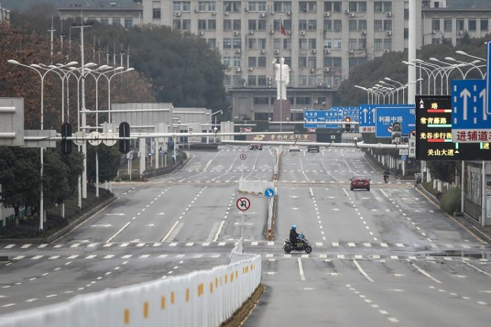 """A deserted Wuhan as Chinese officials put the epicenter of the coronavirus outbreak on lockdown earlier this year. <p class=""""copyright"""">Getty Images</p>"""