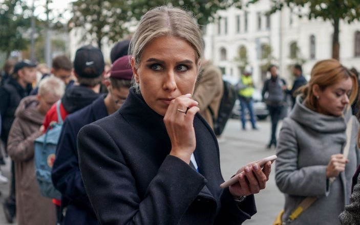 Lyubov Sobol is stepping up her work in Mr Navalny's absense - DIMITAR DILKOFF/AFP via Getty Images