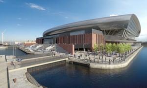 An artist's impression of Everton's proposed new 52,888-capacity stadium.