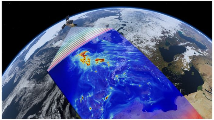 Artwork: Sentinel-5P makes daily global maps of specific gases in the atmosphere