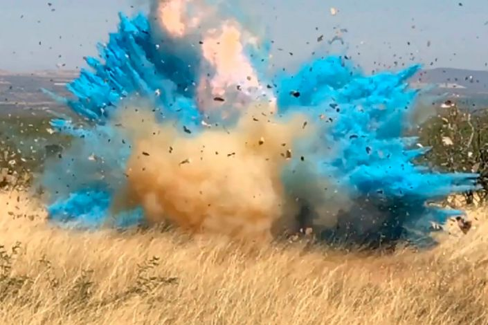 """A gender reveal event in April 2017 started the 47,000-acre Sawmill Fire in the Santa Rita Mountain foothills, southeast of Tucson, Arizona. <p class=""""copyright"""">US Forest Service/AP</p>"""