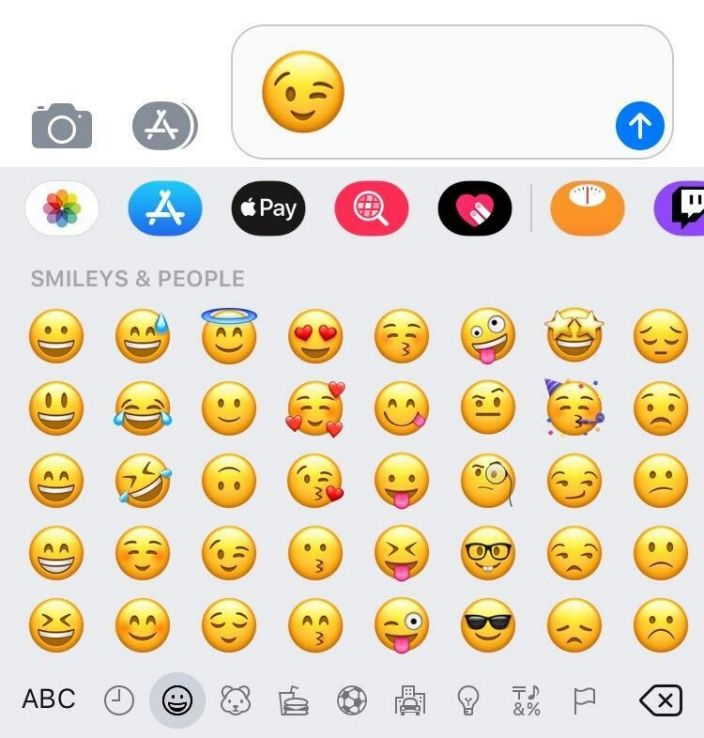 """A range of emoticons available via iMessage on Apple phones. <p class=""""copyright"""">Aylin Woodward/Business Insider</p>"""