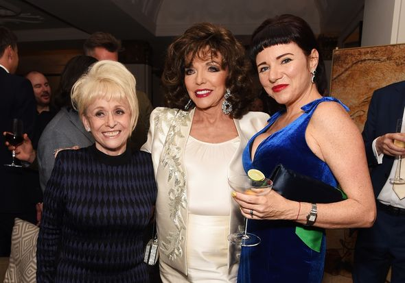Dame Barbara Windsor, Dame Joan Collins and Tara Newley