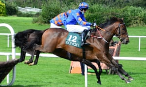 Dreal Deal jumps the last on his way to an easy victory at Navan on Saturday