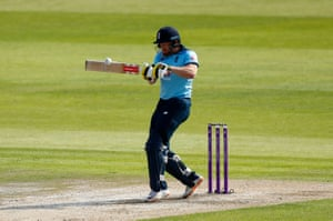 Bairstow hits for four.