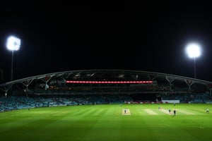 Inside the Oval during Surrey's game against Hampshire.