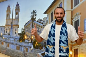 Vedat Muriqi: nothings says you've signed for Lazio like an underwhelming airport picture of Rome in the background.