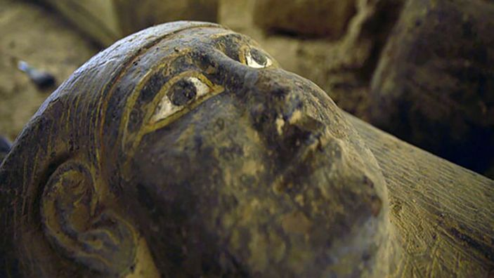 """A sarcophagus discovered in Saqqara, Egypt. <p class=""""copyright"""">Ministry of Tourism and Antiquities Egypt</p>"""