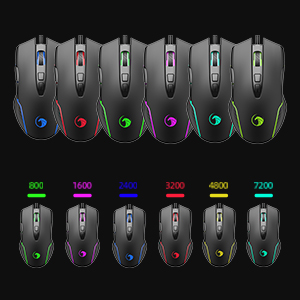 LED backlit mouse