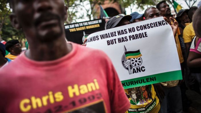 Supporters of the ruling ANC party have also been opposed to freeing Walus on parole