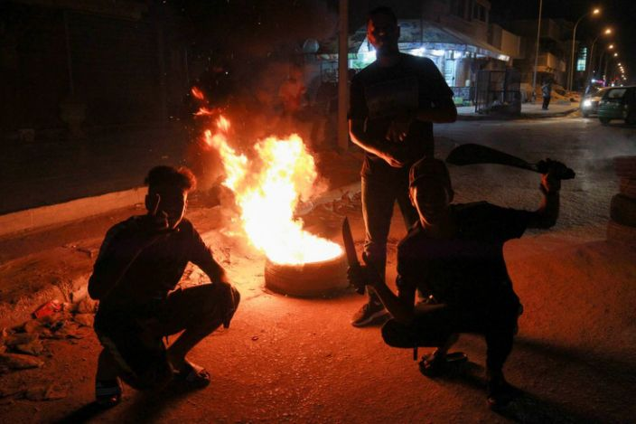 The latest protests erupted on Saturday evening