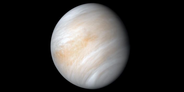 "An image of Venus and its thick clouds taken by NASA's Mariner 10 mission during a planetary flyby maneuver on February 7 and 8, 1974. <p class=""copyright""><a href=""https://images.nasa.gov/details-PIA23791"" rel=""nofollow noopener"" target=""_blank"" data-ylk=""slk:Kevin M. Gill/NASA/JPL-Caletech"" class=""link rapid-noclick-resp"">Kevin M. Gill/NASA/JPL-Caletech</a></p>"