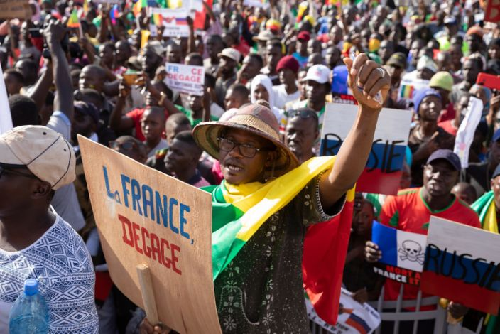 Two days later, Malians use the occasion of their 60th independence anniversary to protest against France's military presence in the country.