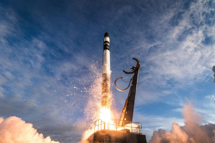 "One of Rocket Lab's carbon-fiber Electron launch vehicles lifts off from New Zealand in August. <p class=""copyright""><a href=""https://www.rocketlabusa.com/gallery/"" rel=""nofollow noopener"" target=""_blank"" data-ylk=""slk:Trevor Mahlmann/Rocket Lab"" class=""link rapid-noclick-resp"">Trevor Mahlmann/Rocket Lab</a></p>"
