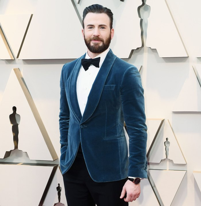 Chris Evans attends the Oscars 2019 Chris Evans Jokes About Lessons Learned After Embarrassing Nude Photo Leak