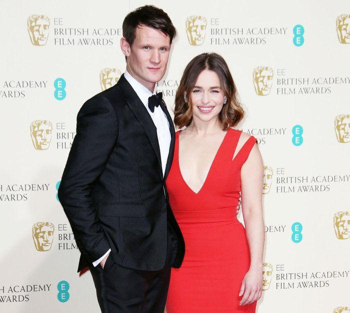 Matt Smith and Emilia Clarke at the British Academy Film Awards Emilia Clarke Enjoys Night Out in London With The Crown Matt Smith