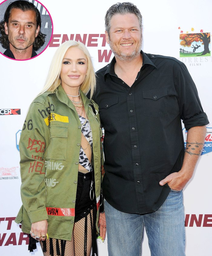 Gwen Stefani Photoshops Blake Shelton Face Over Pic With Gavin Rossdale