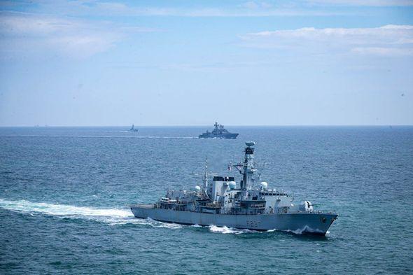 HMS Westminster HMS Tyne Vice Admiral Kulakov