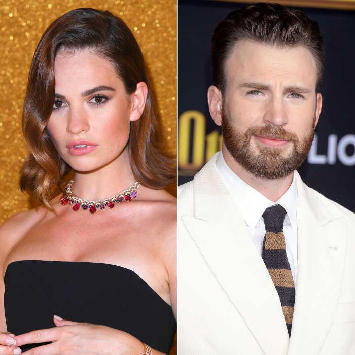 Lily James Refuses to Reveal Whether She's Dating Chris Evans Amid Rumors