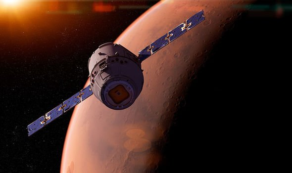 Professor Zarnecki tipped 2040 for the first human to step foot on Mars