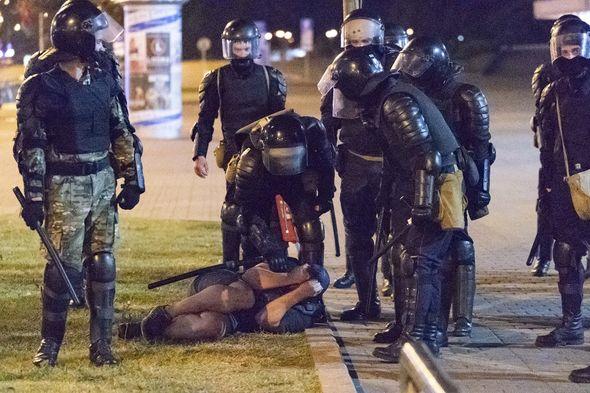 Protesters Belarus