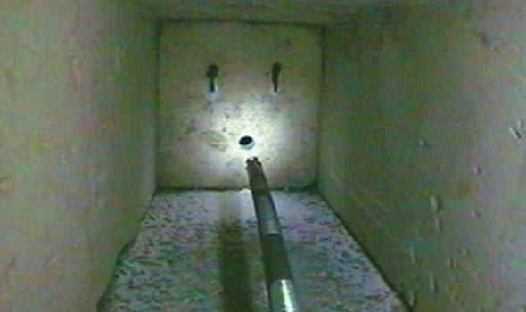 Robots reached a block inside the shaft