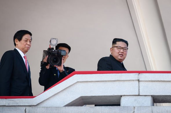 State media: The North's state media regularly follows Kim around on his daily activities