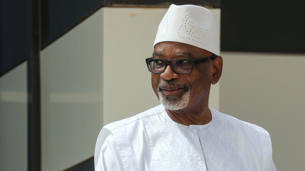File photo of ousted ex-President Ibrahim Boubacar Keïta